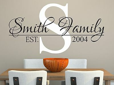 £21.79 • Buy Personalized Family Name Wall Decal Est. Year Living Room Wall Vinyl Sticker