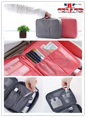 £2.99 • Buy New Travel Wash Bag Toiletry Organiser Women Men Make Up Pouch Cosmetic Aircraft
