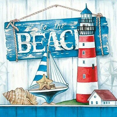 5  X  Paper Party Napkins To The Beach Pack Of 5 Luxury Serviettes • 2.50£