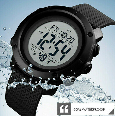 50M Waterproof Sports Watch Womens Mens Military Style Army Swimming Gym Walking • 7.99£