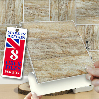 Self Adhesive Wall Tiles | Pk Of 8 Tuscana 6 X6  Stick On Wall Tiles | UK Made • 12.99£