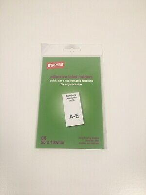 Staples Self Adhesive Label Holders Ideal For Ring Binders Lever Files Shelves  • 3.75£