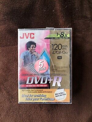 £5.79 • Buy 5 Pack JVC 120 Minutes 4.7 Gb Per Dvd DVD-R Recordable DVDs