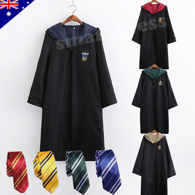 AU26.95 • Buy Harry Potter Adult Kids Robe Cloak Gryffindor Slytherin Tie Cosplay Costume Cape