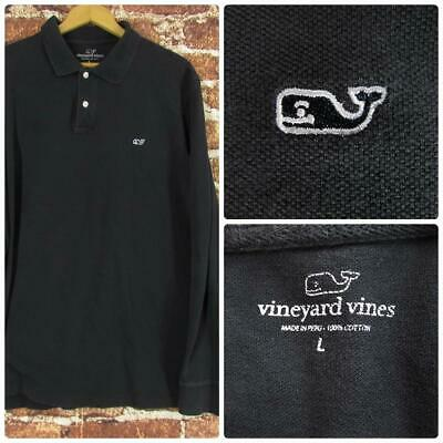 e514f3070d Vineyard Vines Men's Long Sleeve Golf Polo Shirt - Black - Size Large •  19.95$