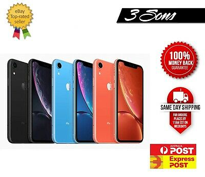 AU445 • Buy Cheap Apple IPhone XR 64 / 128 / 256GB Unlocked [ AU Seller ] Expr - All Colors