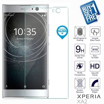 $ CDN6.04 • Buy 2 X For Sony Xperia XA2 Geniune Tempered Glass Screen Protector Film Cover Clear