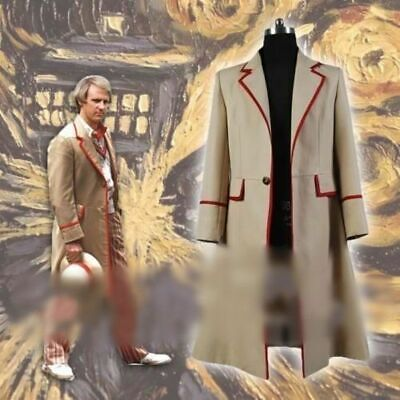 New! 5th Doctor Who Peter Davison JACKET Coat Cosplay Costume • 35£