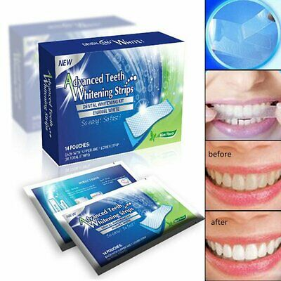AU9.09 • Buy 28 Professional Advanced Teeth Whitening Strips Tooth Bleaching White Strip DM