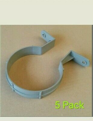 110mm Pipe Clip / 4 Inch Bracket Soilpipe Soil Pipe Drainage Clips - Pack Of 5 • 5.49£