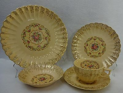$26.21 • Buy SEBRING China American Limoges TOLEDO DELIGHT SAND Pattern 5-piece Place Setting