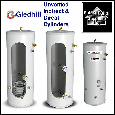 £669.97 • Buy Gledhill Unvented Indirect / Direct Hot Water Cylinder 25 Yr Guarantee All Sizes