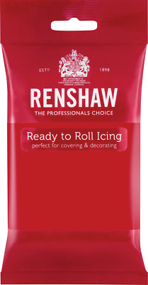 Poppy Red Renshaw Ready To Roll Icing 250g Packets • 2.44£