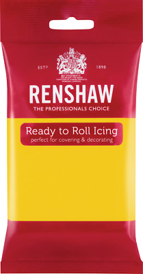 Yellow Renshaw Ready To Roll Icing 250g Packets • 2.44£
