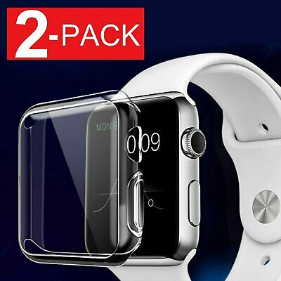 $ CDN5.99 • Buy For Apple Watch Series 2 3 4 Soft Clear Bumper Case Full Screen Cover Protector