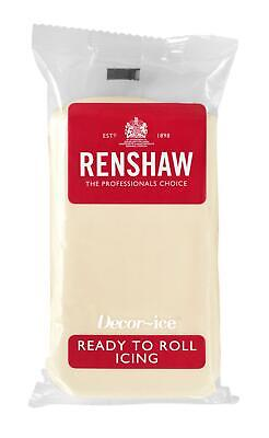 White Chocolate Renshaw Ready To Roll Icing 250g Packets • 2.55£