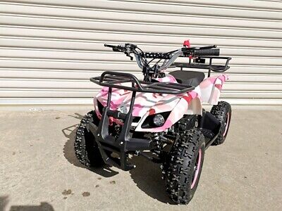 AU499 • Buy 49cc Mini Farm Quad Bike Atv Buggy Kids 4 Wheeler Pocket Pit Dirt Bike Pink