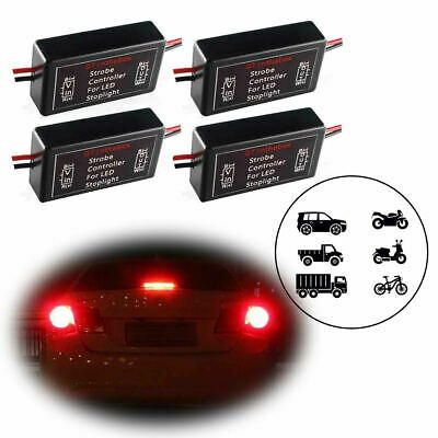 $13.45 • Buy 4x Flash Strobe Module Controller Flasher Box For 3rd Brake Stop Tail LED Lights