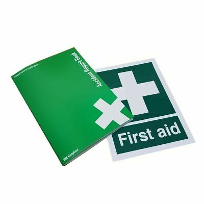 £5 • Buy GDPR Compliant A5 First Aid Accident Report Book & First Aid Sign