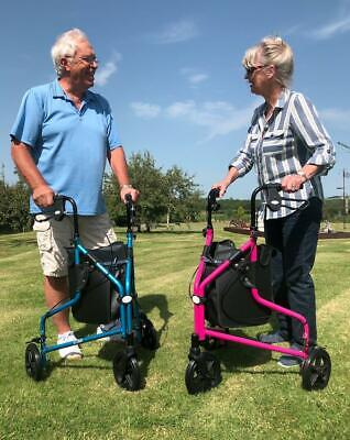 £74.95 • Buy Aids 4 Mobility Premium Lightweight Tri-walker 3 Wheeled Walking Aid With Bag