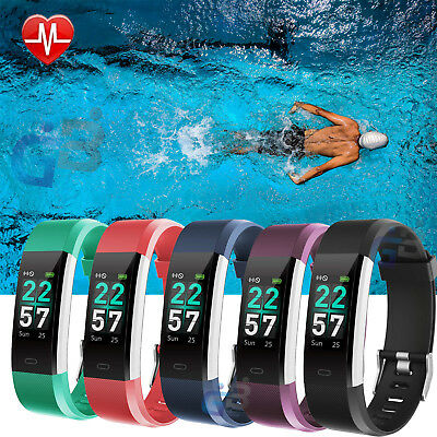 View Details Sports Fitness Tracker Watch Waterproof Heart Rate Monitor STEP COUNTER Swimming • 20.99£