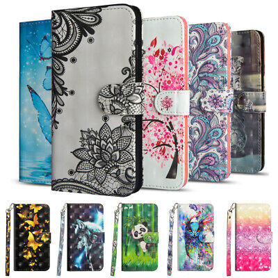 $4.98 • Buy For Xiaomi Redmi 7 8 Note 8T 7 6 Flip Painted Leather Case Magnetic Wallet Cover