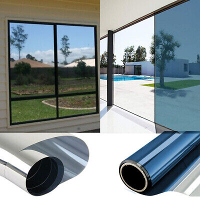 Mirror Window Film One Way Reflective UV Vision Privacy Solar Glass Tint • 0.99£