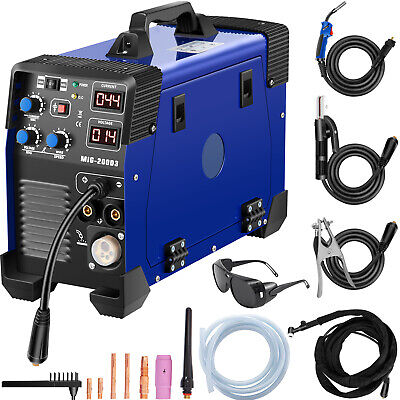 3 In 1 MIG / MAG / TIG / FLUX / MMA Inverter Welder 200Amp Combo Welding Machine • 218.94£