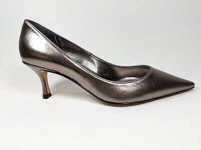 Roland Cartier Pewter Leather Mid Heel Court Shoes Uk 4 Eu 37  • 18.99£