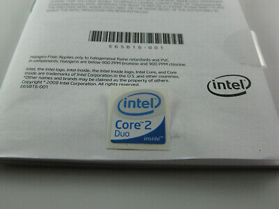 Intel Core 2 Duo Sticker Badge Emblem 19 X 24mm Desktop Tower PC Laptop UK • 1.99£