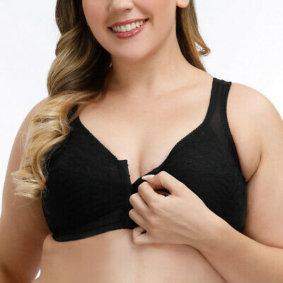 AU17.99 • Buy Women Full Coverage Bras Front Closure Wire Free Everyday Bra Lingerie Bralette