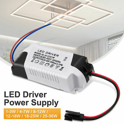 £4.99 • Buy 300mA 3W - 36W Constant Current Transformer LED Driver LED Light, Ceiling Light