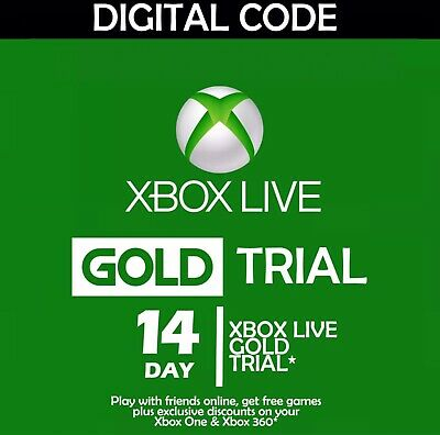 $5 • Buy Official Microsoft Xbox Live 14 Day Trial USA SELLER
