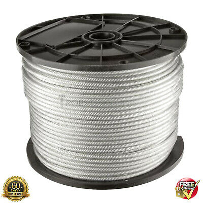 £1.99 • Buy WIRE ROPE CABLE 1mm 1.5mm 2mm 2.5mm 3mm 4mm GALVANISED STEEL DIN 3053 DIN 3055