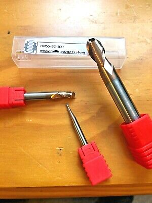 BALL NOSE SOLID CARBIDE ENDMILL CUTTERS HRC55 1,2,3,4,5,6,8,10,12,16 And 20MM • 5.75£