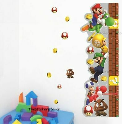 £5.68 • Buy Super Mario Height Chart Growth Measure For Childrens Home Decor