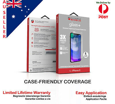 AU38.99 • Buy Genuine Zagg Invisible Shield Glass + Apple Iphone X  XR XS Max Screen Protector