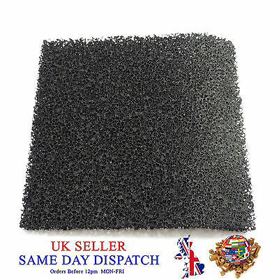 £3 • Buy Activated Carbon Smoke Filter Pad Black Universal Foam Air Sponge Fume Extractor