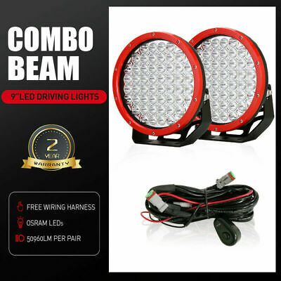 AU135.99 • Buy OSRAM 9  LED Driving Lights Pair Round Spot Offroad 4x4 Work SUV Slim Headlight