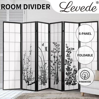 AU169.99 • Buy Levede 6 Panel Room Divider Privacy Screen Wood Timber Bed Wider Foldable Stand