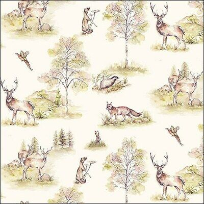 £2.50 • Buy 5 Paper Party Napkins For Decoupage Woodland Deer 5 Pack 3 Ply Tissue Serviettes