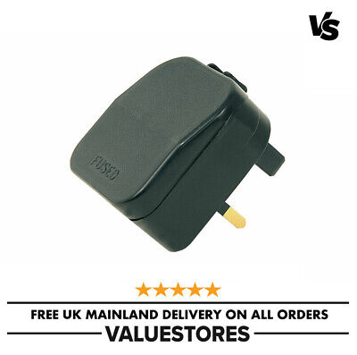 2-Pin To 3-Pin UK Travel Plug Socket Adapter Converter EU European Euro Europe • 3.49£