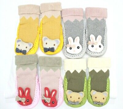 New Infant Baby Girl/Boy Toddler Anti-slip Warm Slippers Socks Cotton Crib Shoe • 4.50£