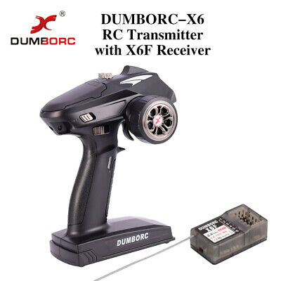 DUMBORC-X6 6CH 2.4G RC Radio Controller Transmitter Mixed Mode+X6F Receiver UK • 30.81£