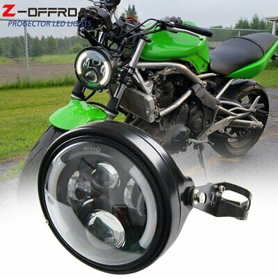 AU113.51 • Buy 7  7 Inch LED Headlights With Housing Bucket DRL Turn Signal Lights Motorcycle