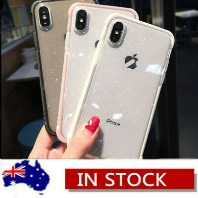 AU12.19 • Buy For IPhone XS Max 8 7 Bling Glitter Shockproof Clear Soft TPU Simple Case Cover