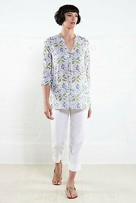 50%OFF SALE NOMADS 3/4 Sleeve Shirt In Trellis Print Size 8 FairTrade TR4012 • 25£