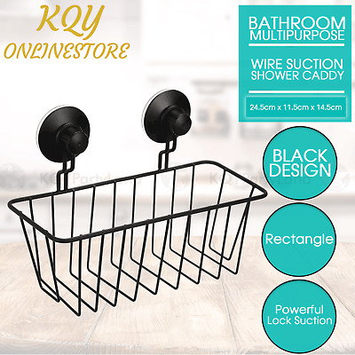 AU16.95 • Buy Black Wire Suction Shower Caddy Bathroom Laundry Kitchen Storage Wall Mounted AU