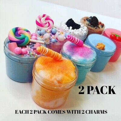 AU25.80 • Buy 2 Pack Slime Cloud Candy Oreo Cookie Chocolate Chip Usa Butter Charm Squishy