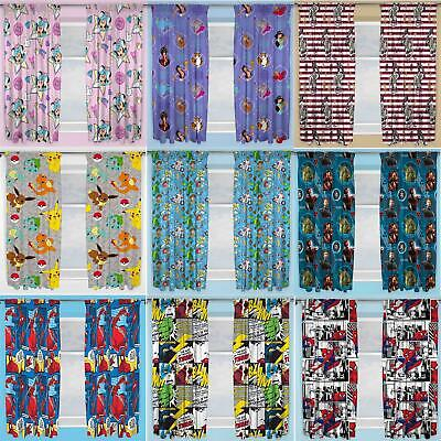 £9.95 • Buy Official Licensed Character Pleated Curtains 54  Or 72  Drop Disney Boys Girls